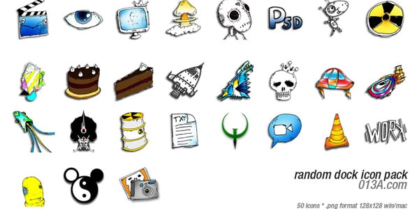 Random dock icon pack 100+ Free ObjectDock Icons