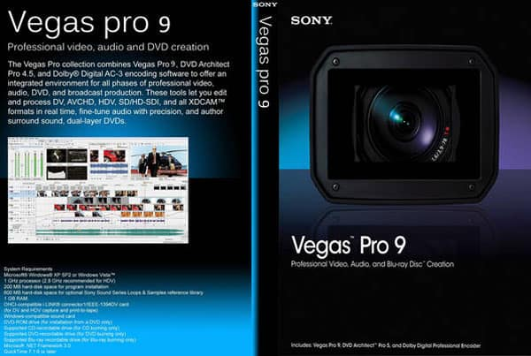 Sony Vegas 9.0 Front Cover 45382 Top Video Editing Softwares
