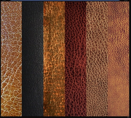 a pack of leather textures 30+ Awesome Leather Texture Collections