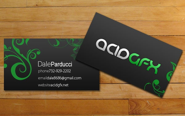 acidGFX business cards 30+ Simple business cards For Everyone
