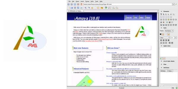 amaya Best Free Linux Html Editors