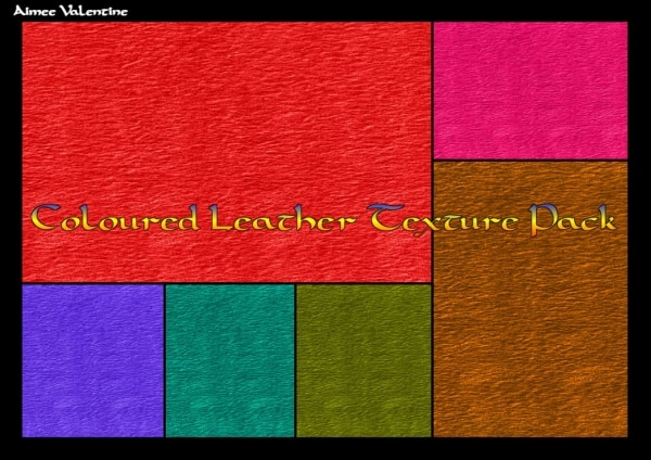 colored leather textures set 30+ Awesome Leather Texture Collections