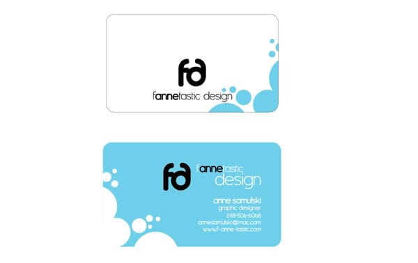 f anne tastic 30+ Simple business cards For Everyone