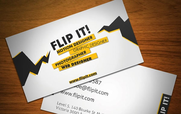 flipit dev 30+ Simple business cards For Everyone