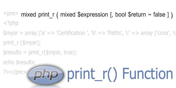 php print_r