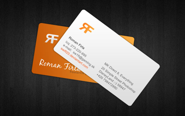 rf 30+ Simple business cards For Everyone
