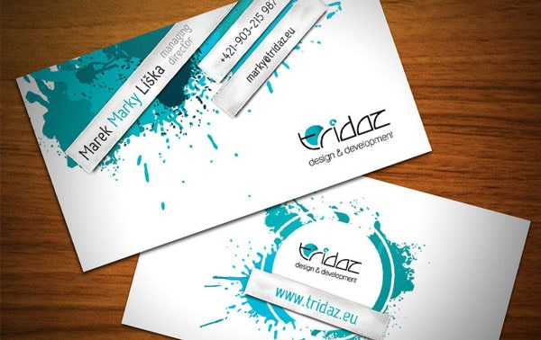 tridaz 30+ Simple business cards For Everyone