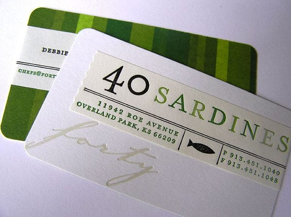 40 Sardines 50+ Green Business card Designs