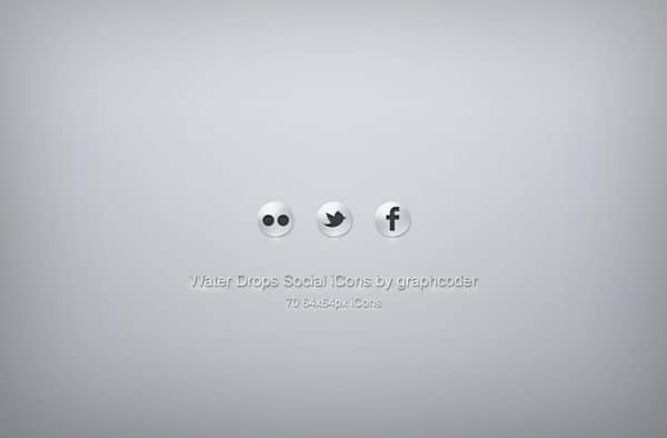 70 water drops social icons 30 Sets of Social Media/Bookmarking Icons