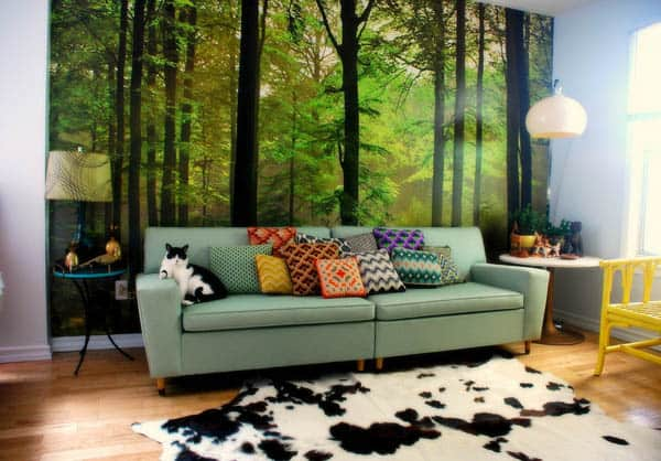 A forest in my living room 30+ Living Room Designs for your Sweet Home