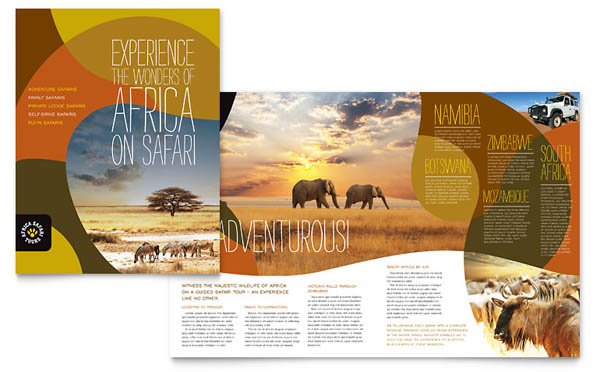 African Safari Brochure Template 30 Beautiful Travel Brochure Designs