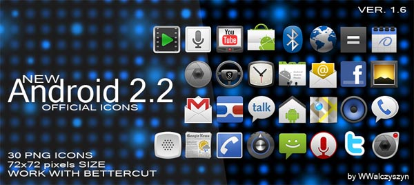 Android 2 2 Official Icons by wwalczyszyn 40+ Android Icons Collections