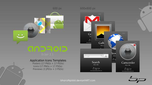Android Icon Templates by bharathp666 40+ Android Icons Collections
