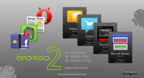 Android Icons Set 2 Templates by bharathp666 40+ Android Icons Collections