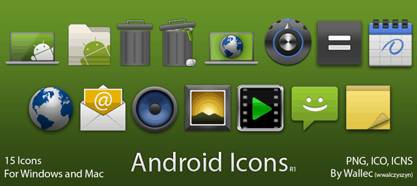 Android Style Icons R1 by wwalczyszyn 40+ Android Icons Collections