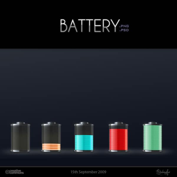 Battery Icons and psd