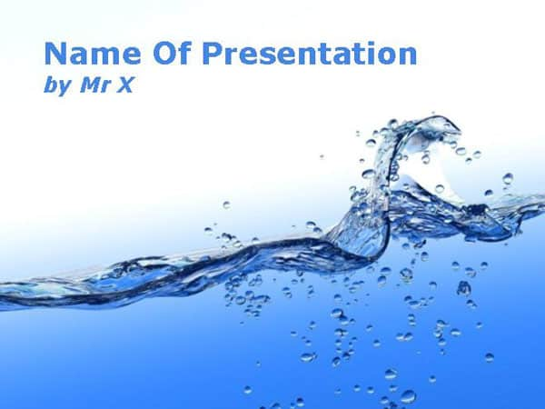 Blue Water Flow Free Powerpoint Template 30 Best PowerPoint Templates