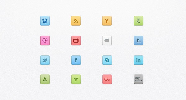 Candy Social Media Icons Buttons 30 Sets of Social Media/Bookmarking Icons