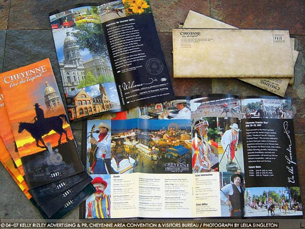Cheyenne Visitors guide 30 Beautiful Travel Brochure Designs