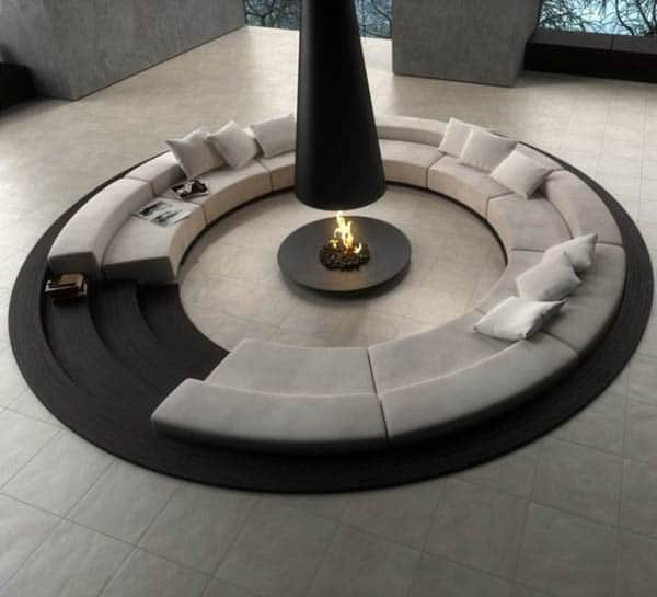 Circular conversation pit Novoceram 30+ Living Room Designs for your Sweet Home