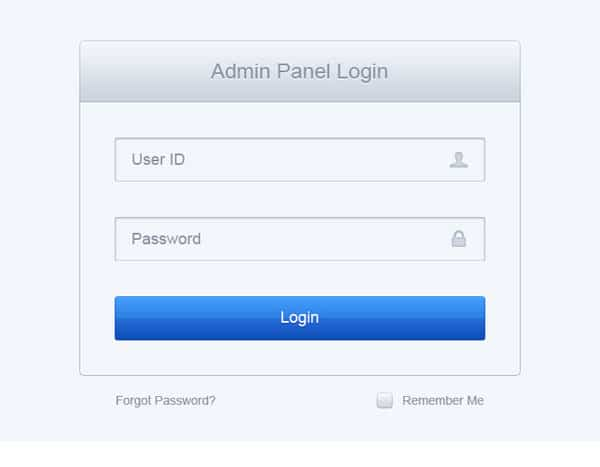 Clean Log In Form PSD