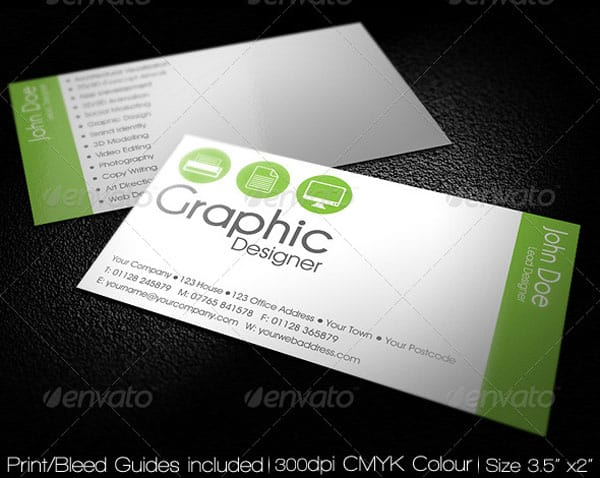 Clean Simple Agency Business Card 50+ Green Business card Designs