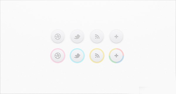 Clean Social Circles 30 Sets of Social Media/Bookmarking Icons