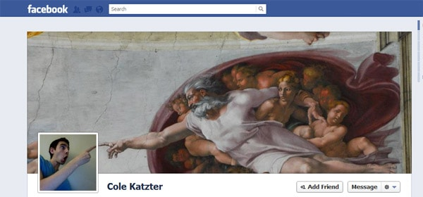 Cole Katzter Facebook Timeline Tips and Cover Page Inspirations