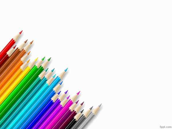 Colored Pencils PowerPoint Templates 30 Best PowerPoint Templates
