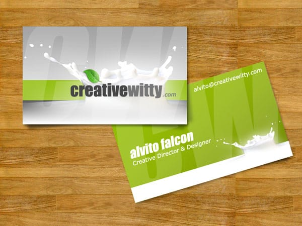 CreativeWitty Business Card 50+ Green Business card Designs