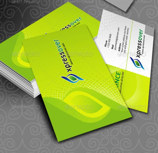 DX XpressOver Business Cards 50+ Green Business card Designs