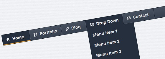 Dark Navigation Menu Coded 40 Free Website Navigation Menu Bar PSDs