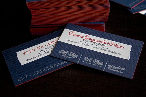 Denim Letterpress v2 30+ Luxury Business Cards