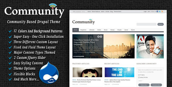 Drupal Themes 7 20+ Premium Drupal Templates