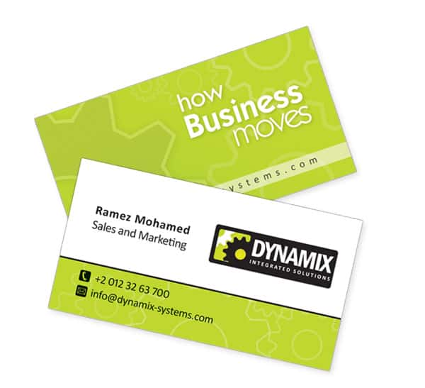 Dynamix Business cards 50+ Green Business card Designs
