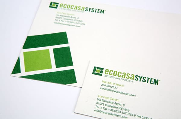 ECS EcoCasaSystem 50+ Green Business card Designs