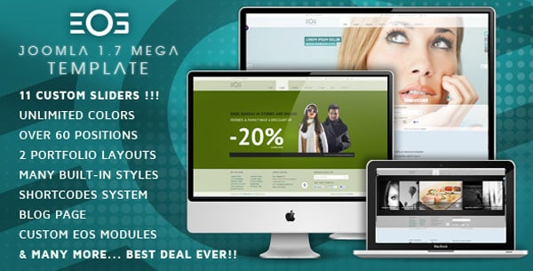 EOS Template 25 Best Joomla Templates for Inspiration