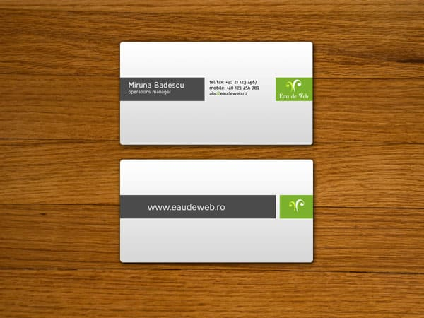 Eau de Web Business Cards 50+ Green Business card Designs
