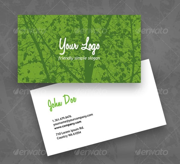 Eco Green business card 50+ Green Business card Designs
