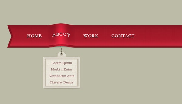 Elegant Ribbon Menu 40 Free Website Navigation Menu Bar PSDs