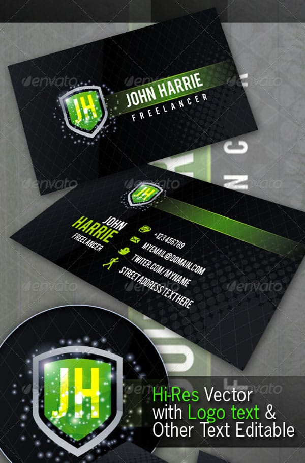 Freelancer Creative Business Card 50+ Green Business card Designs