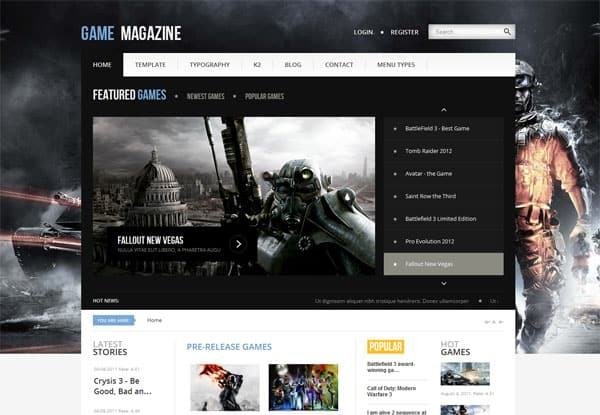 Game Magazine 25 Best Joomla Templates for Inspiration