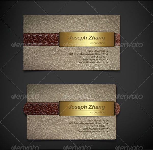 Genuine Leather Business Card 30+ Luxury Business Cards