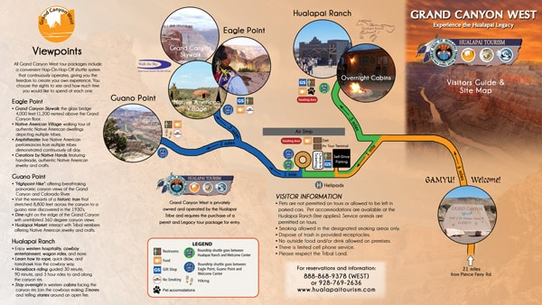 Grand Canyon West sitemap brochure 30 Beautiful Travel Brochure Designs
