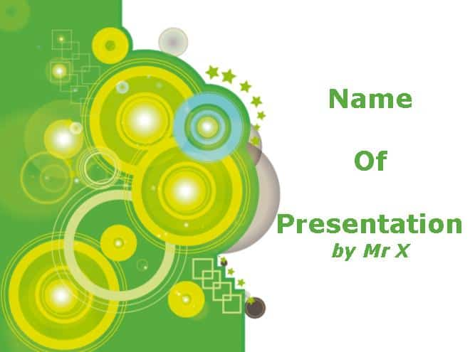 Green Circles Free Powerpoint Template 30 Best PowerPoint Templates