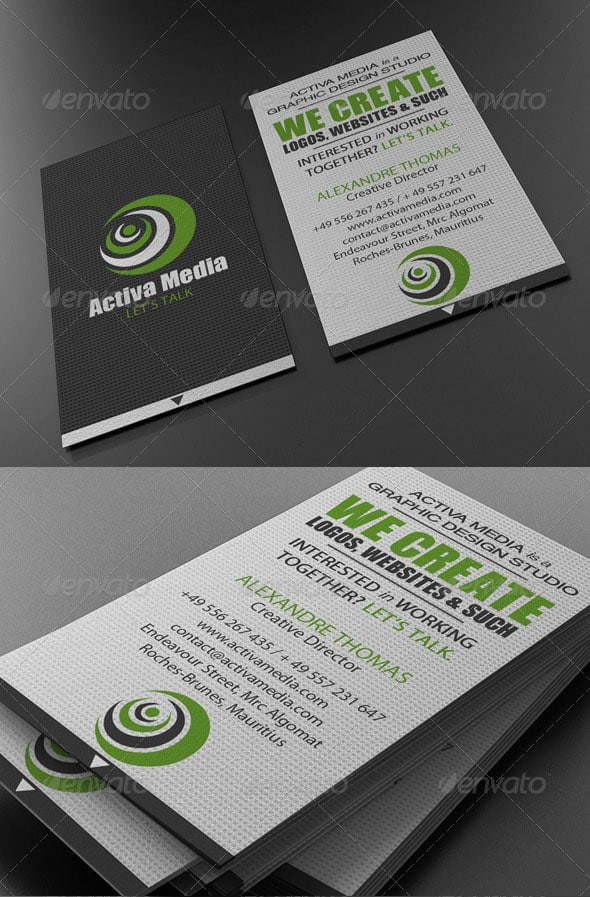 Green Designer Business Card 50+ Green Business card Designs