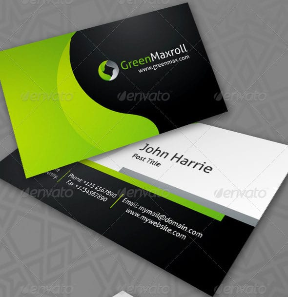 GreenMaxroll Business Cards 50+ Green Business card Designs
