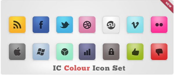 IC Colour Icon Set 30 Sets of Social Media/Bookmarking Icons