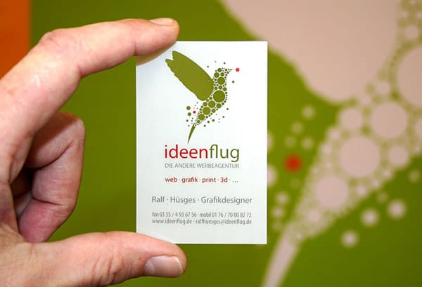 Ideenflug 50+ Green Business card Designs