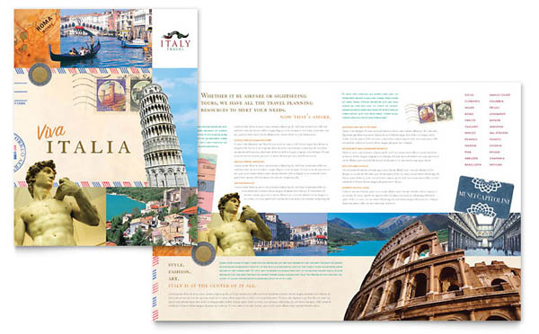 Italy Travel Brochure Template 30 Beautiful Travel Brochure Designs